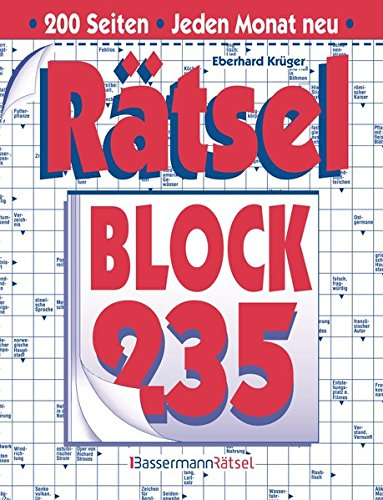 Rätselblock 235 (Paperback): Eberhard Krüger