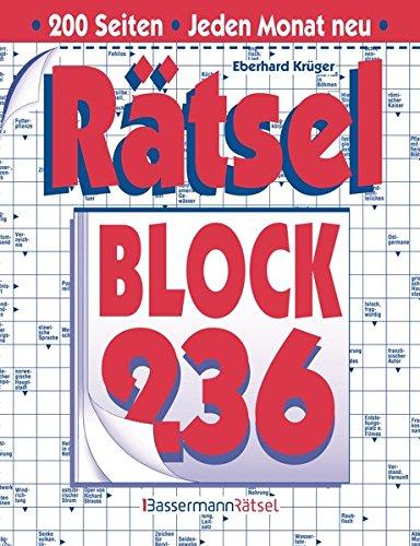 Rätselblock. Bd.236 (Paperback): Eberhard Krüger