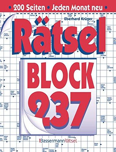 Rätselblock. Bd.237 (Paperback): Eberhard Krüger