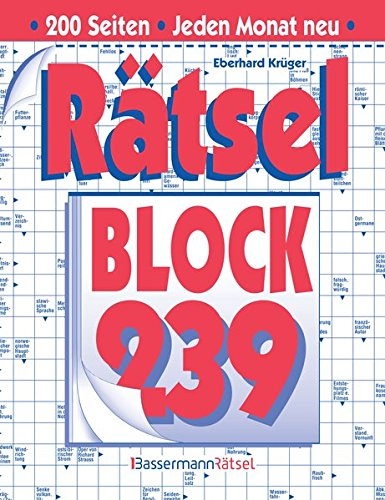 Rätselblock. Bd.239 (Paperback): Eberhard Krüger