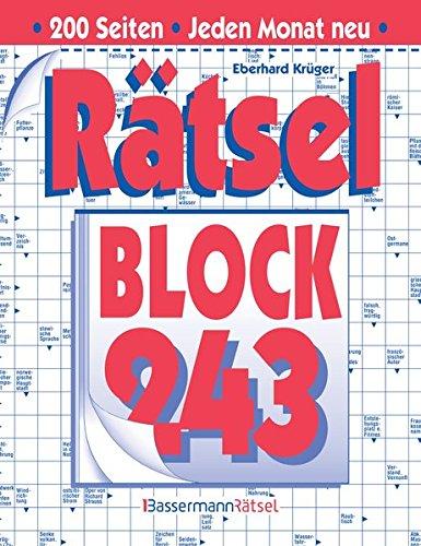 Rätselblock. Bd.243 (Paperback): Eberhard Krüger