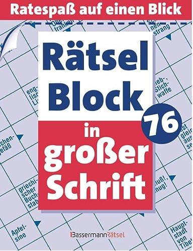 Rätselblock in großer Schrift. Bd.76: Ratespaß auf: Eberhard Krüger