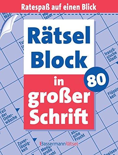 Rätselblock in großer Schrift. Bd.80 (Paperback): Eberhard Krüger