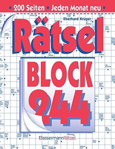 Rätselblock 244 (Paperback): Eberhard Krüger