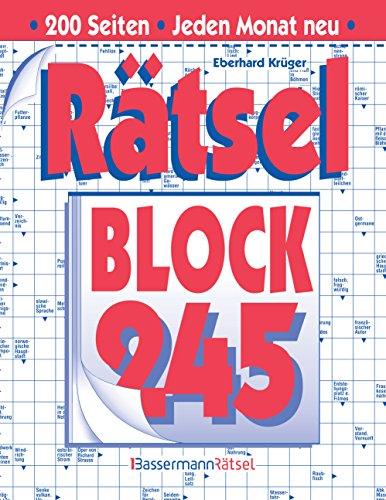 Rätselblock 245 (Paperback): Eberhard Krüger