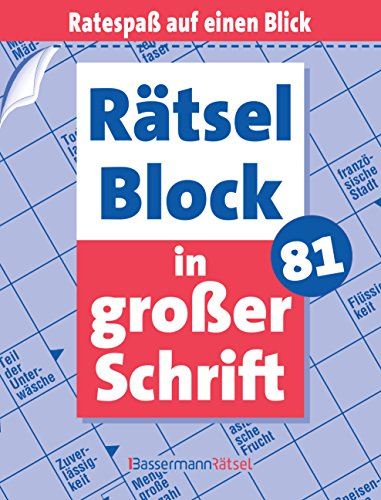 Rätselblock in großer Schrift 81 (Paperback): Eberhard Krüger