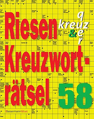 Riesen-Kreuzworträtsel 58 (Paperback): Eberhard Krüger