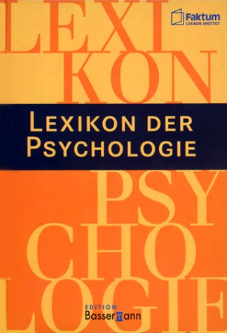 9783809450061: Lexikon der Psychologie