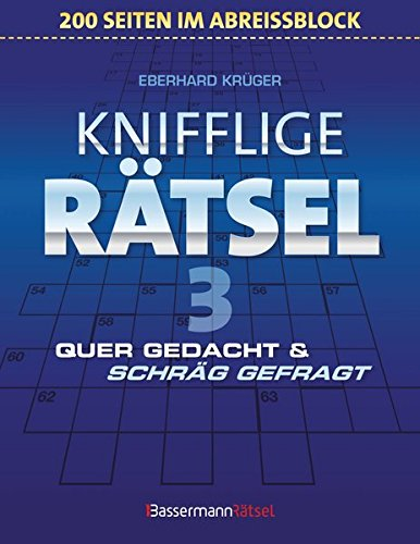 9783809463054: Knifflige Rätsel 3 (Block) - 5er VE