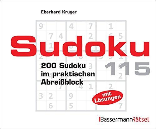 9783809463290: Sudoku Block 115 - 5er VE: 200 Sudoku im praktischen Abreißblock