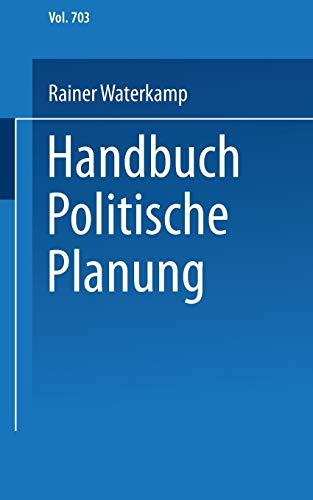 Handbuch Politische Planung: Rainer Waterkamp