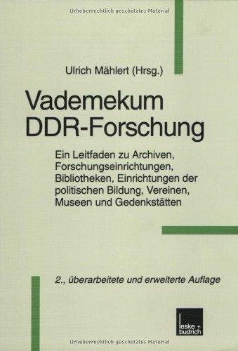 9783810023261: Vademekum DDR-Forschung