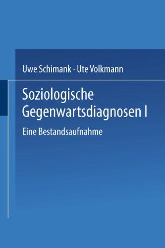9783810028297: Soziologische Gegenwartsdiagnosen 1.