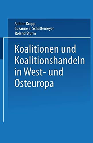 Koalitionen in West- und Osteuropa German Edition