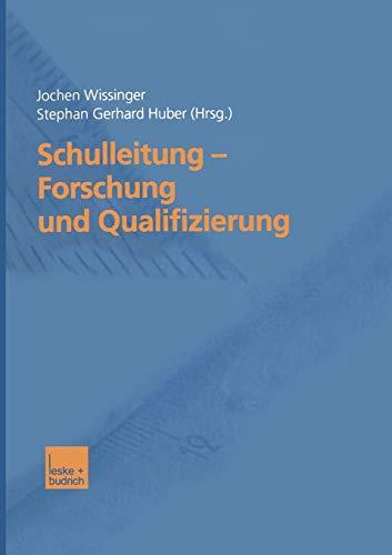 9783810034274: Schulleitung ― Forschung und Qualifizierung (German Edition)
