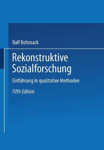 9783810037169: Rekonstruktive Sozialforschung