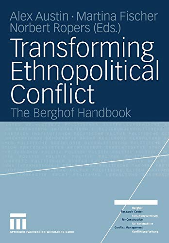 9783810039408: Transforming Ethnopolitical Conflict: The Berghof Handbook