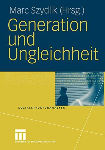 9783810042194: Generation und Ungleichheit (Sozialstrukturanalyse)
