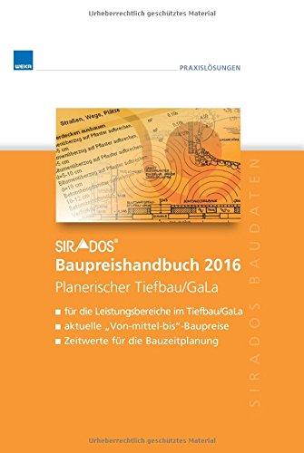 sirAdos Baupreishandbuch 2016 Planerischer Tiefbau/GaLa: sirAdos-Baudaten