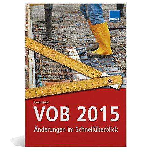 9783811139305: VOB 2015: Änderungen im Schnellüberblick
