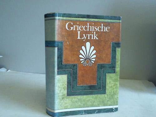 9783811203785: Griechische Lyrik