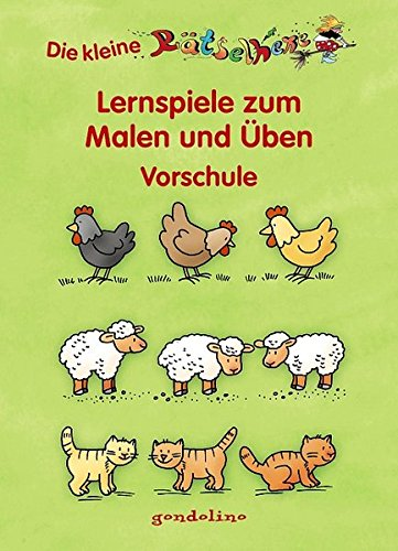 9783811229679: Lernspiele zum Malen und Üben - Vorschule: (Motiv Hühner)