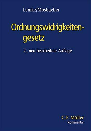 9783811408623: Ordnungswidrigkeitengesetz (C.F. Müller Kommentar)