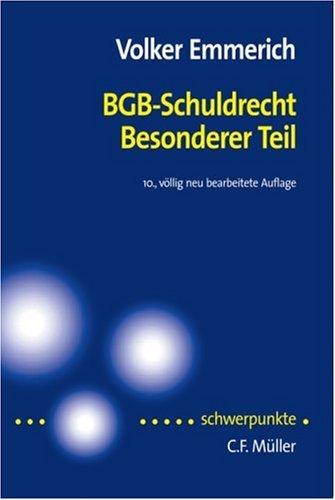 9783811418141: BGB - Schuldrecht.  Besonderer Teil.