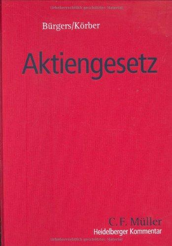 9783811435179: Heidelberger Kommentar zum Aktiengesetz