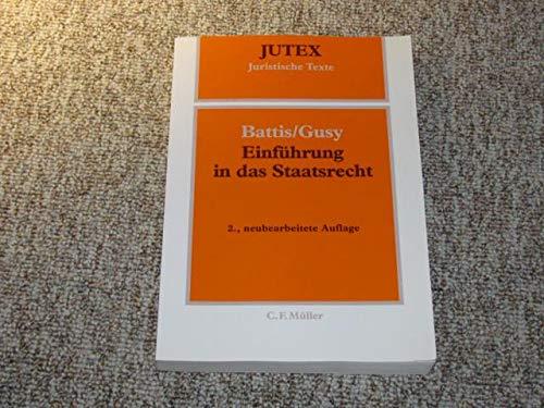 9783811435865: Einführung in das Staatsrecht , Juristische Texte ( JUTEX ) , guter Zustand