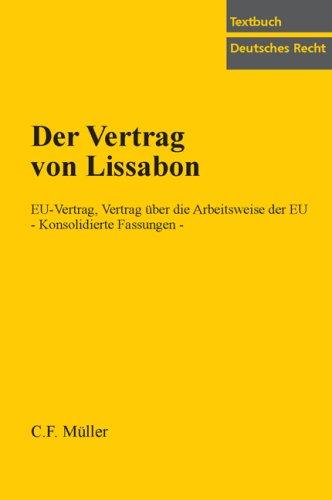 9783811436046 Der Vertrag Von Lissabon Eu Vertrag Vertrag über