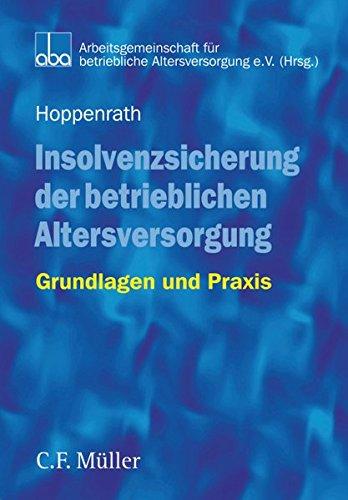9783811436671: Insolvenzsicherung der betrieblichen Altersversorgung (German Edition)