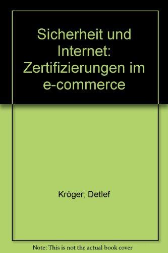 9783811440012: Sicherheit und Internet: Zertifizierungen im e-commerce