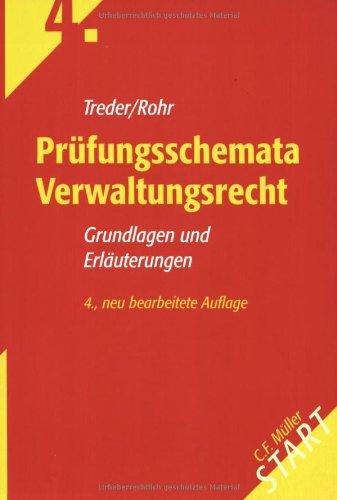 9783811440548: Prüfungsschemata Verwaltungsrecht