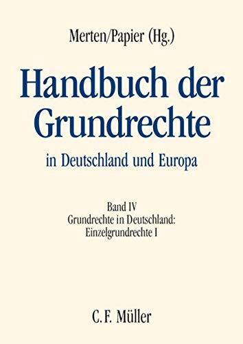 Handbuch der Grundrechte in Deutschland und Europa IV: Martin Burgi