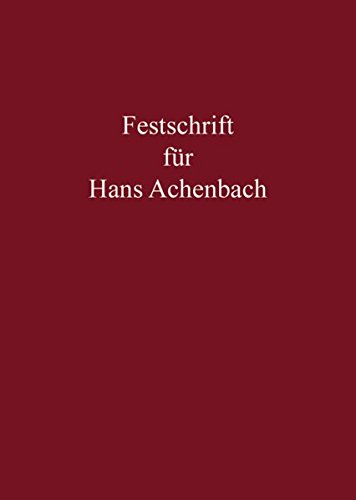 9783811454286: Festschrift für Hans Achenbach