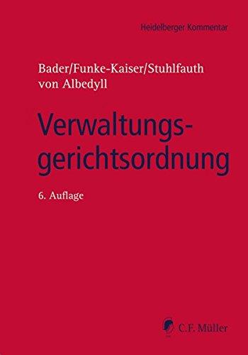 Verwaltungsgerichtsordnung.: Bader, Johann, Michael