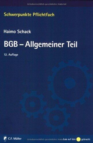 9783811481022: BGB-Allgemeiner Teil