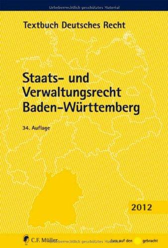 9783811494657: Staats- und Verwaltungsrecht Baden-Württemberg