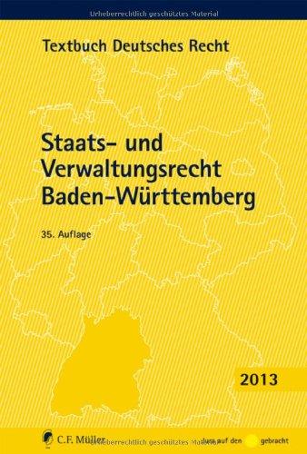 9783811494886: Staats- und Verwaltungsrecht Baden-Württemberg