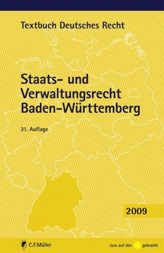 9783811496026: Staats- und Verwaltungsrecht Baden-Württemberg