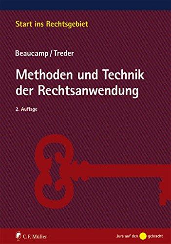 9783811496866: Methoden und Technik der Rechtsanwendung