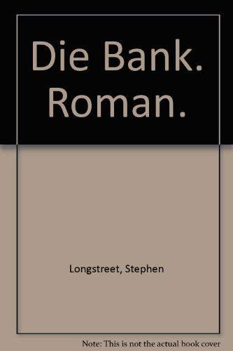 9783811823259: Die Bank. Roman.