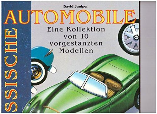 Klassische Automobile. Eine Kollektion von 10 vorgestanzten Modellen. Jaguar XK 120, MG TA Midget, ...