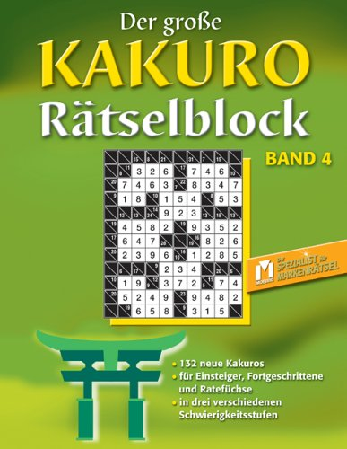 Der grosse Kakuro Rätselblock 4: Anonymus