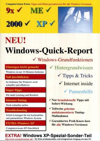 Windows-Quick-Report : Computerwissen extra: Tipps und Hintergrundwissen: Backer, Reiner