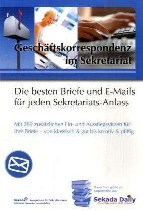 9783812509299: Geschäftskorrespondenz im Sekretariat