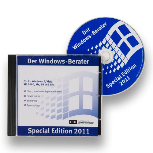 9783812513289: Windows-Berater, Special Edition 2011, CD-ROM Für Ihr Windows 7, Vista, XP, 2000, ME, 98 und 95 [import allemand]