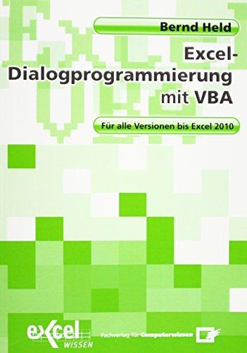 9783812513739: Dialogprogrammierung mit Excel-VBA