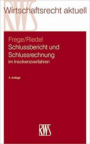 Schlussbericht und Schlussrechnung: Michael C. Frege